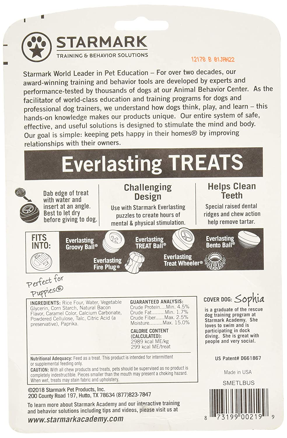 6 Pack Star Mark Everlasting Bacon Dog Dental Chews, Large