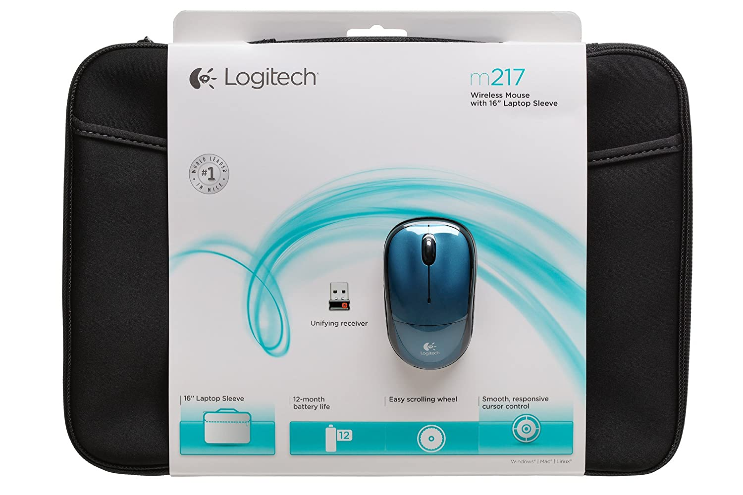 durable modeling Logitech 910-002140 Bundle Wireless Mouse M217 Blue