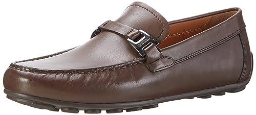 Geox U Giona B, Mocasines para Hombre, Marrón (Ebonyc6027), 46 EU: Amazon.es: Zapatos y complementos