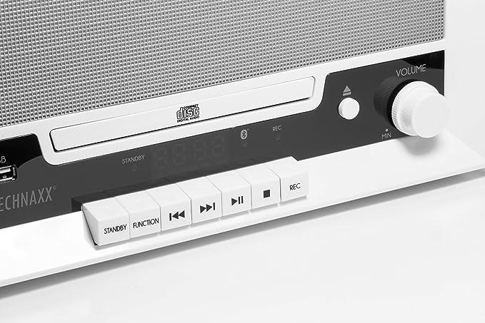 Technaxx TX-94 10 W Blanco - Radio CD (FM, Jugador, CD,CD-R,CD-RW ...