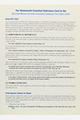 The Wadsworth Guide to Using MLA Documentation Style Card Loose Leaf