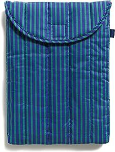 "BAGGU Puffy Laptop Sleeve, Ripstop Nylon 13"" Electronics Sleeve, Cobalt and Jade Stripe"