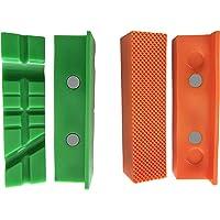 GarMills Tampons Protecteurs aimantés pour étaux d'établi - 2 éléments : 1 à rainures multiples et 1 standard de 113 mm