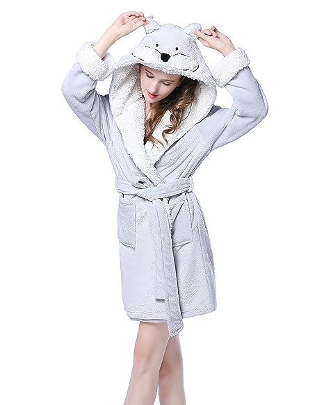 nouveau style ec52a 15489 NEWCOSPLAY Adult Unisex Unicorn Robe Hooded Bathrobe