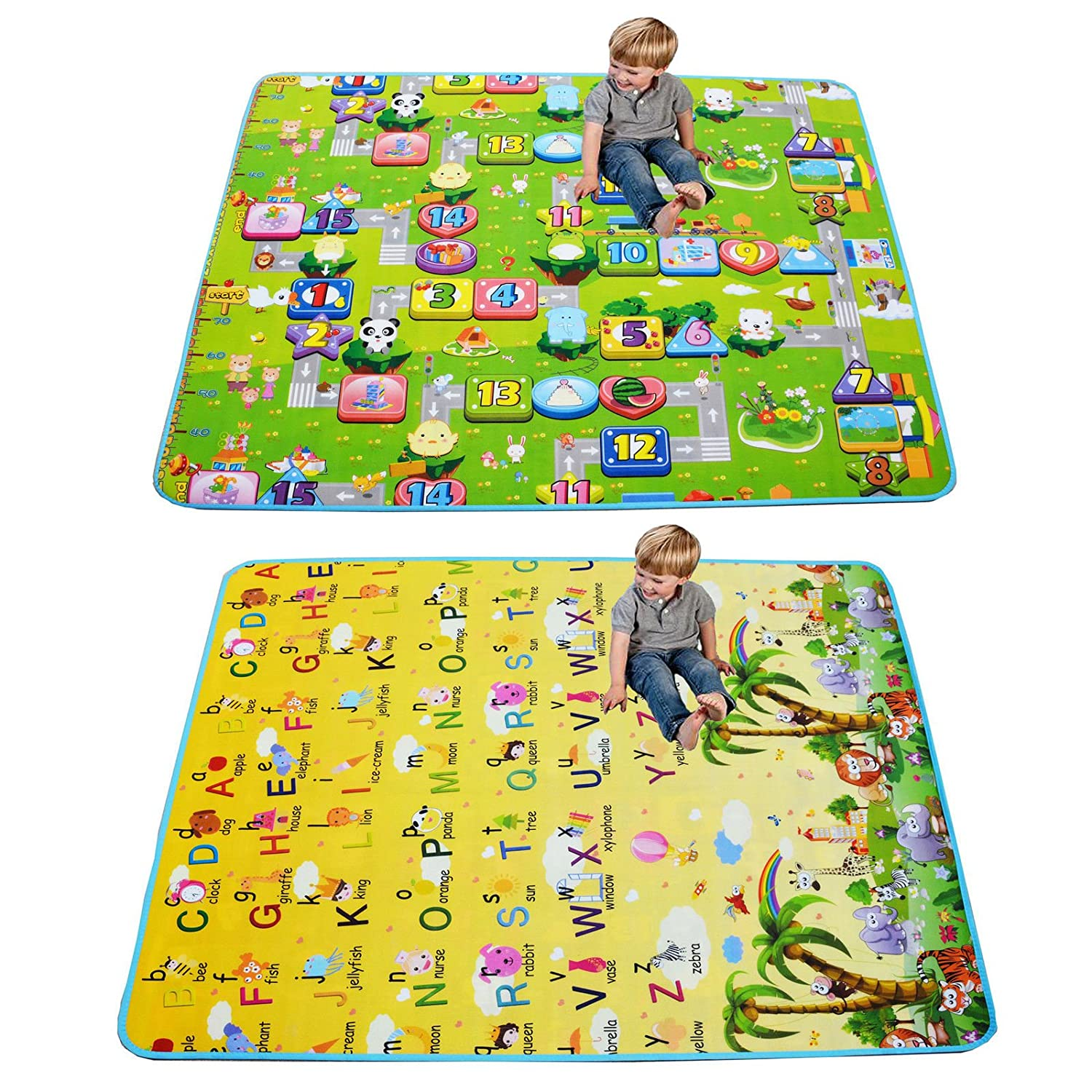Baby Toddler Playmat Large Crawl Learn Play Infant Children Toy Mat Soft Foam Activity Centre (150cmX180cm) House of Creative Living