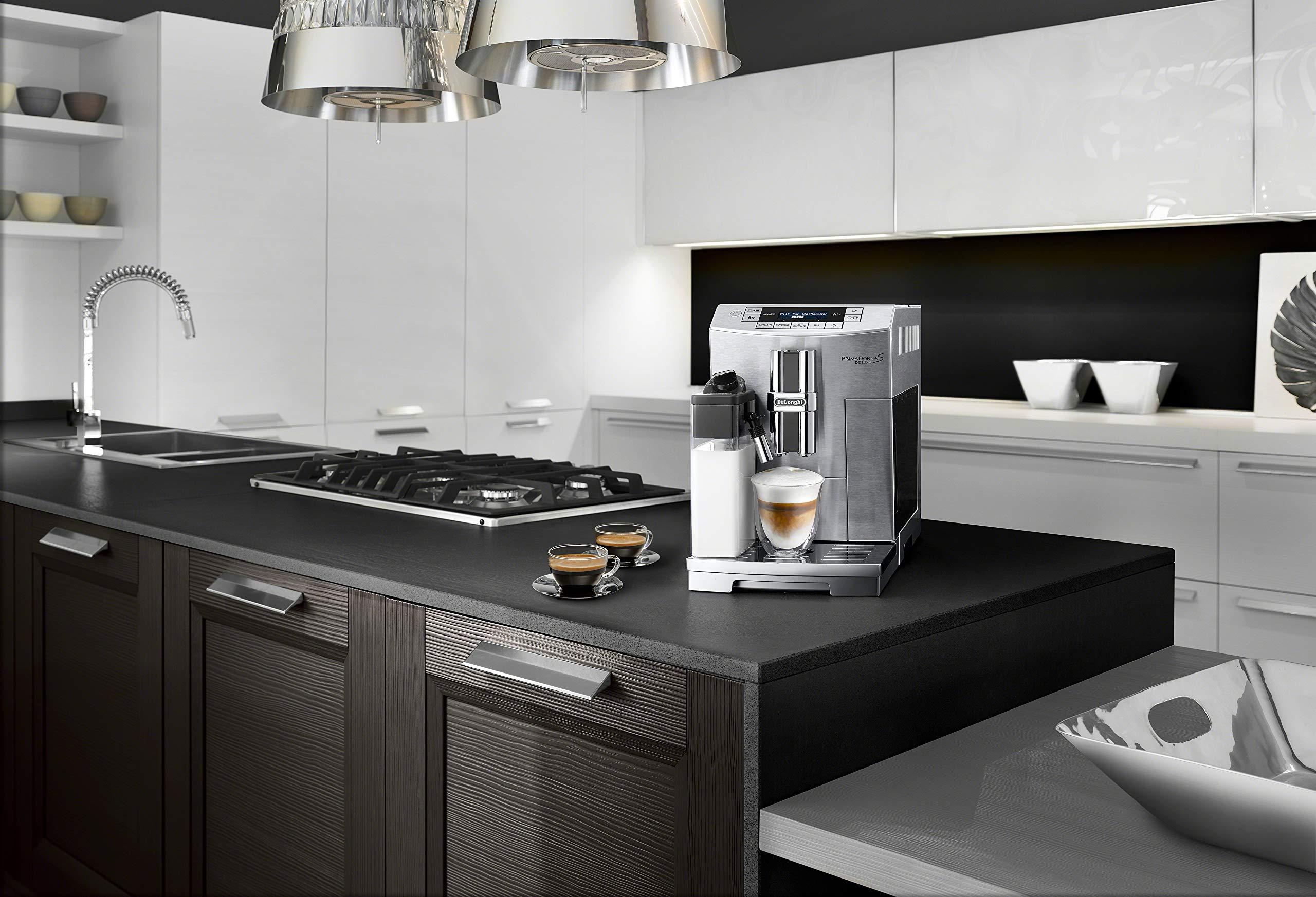 DeLonghi America ECAM28465M Prima Donna Fully Automatic Espresso Machine with Lattecrema System ...