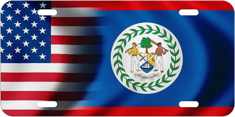 ExpressItBest Placa de Licencia – Bandera de Belice – Elige tu diseño: Amazon.es: Hogar