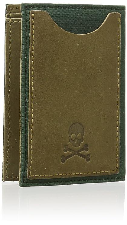 Scalpers Waxed Wallet 02, Cartera para Hombre, Khaki, UNICA: Amazon.es: Ropa y accesorios