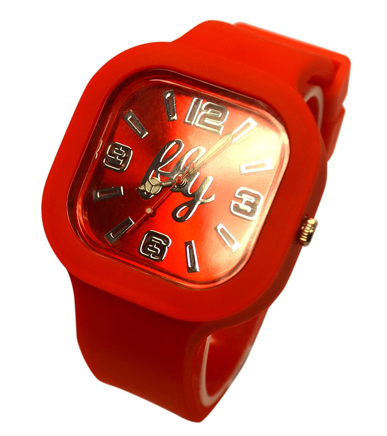 Amazon.com: Fly Watches Radiant Red 2.0 Japanese Movement Silver Dial Unisex Adult Watch: Fly Watches: Watches