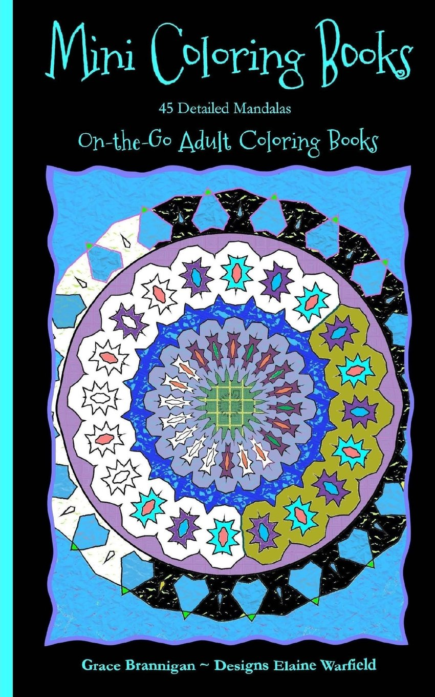 Mini Coloring Books: 45 Detailed Mandalas (On the Go Adult Coloring Books) (Volume 1)