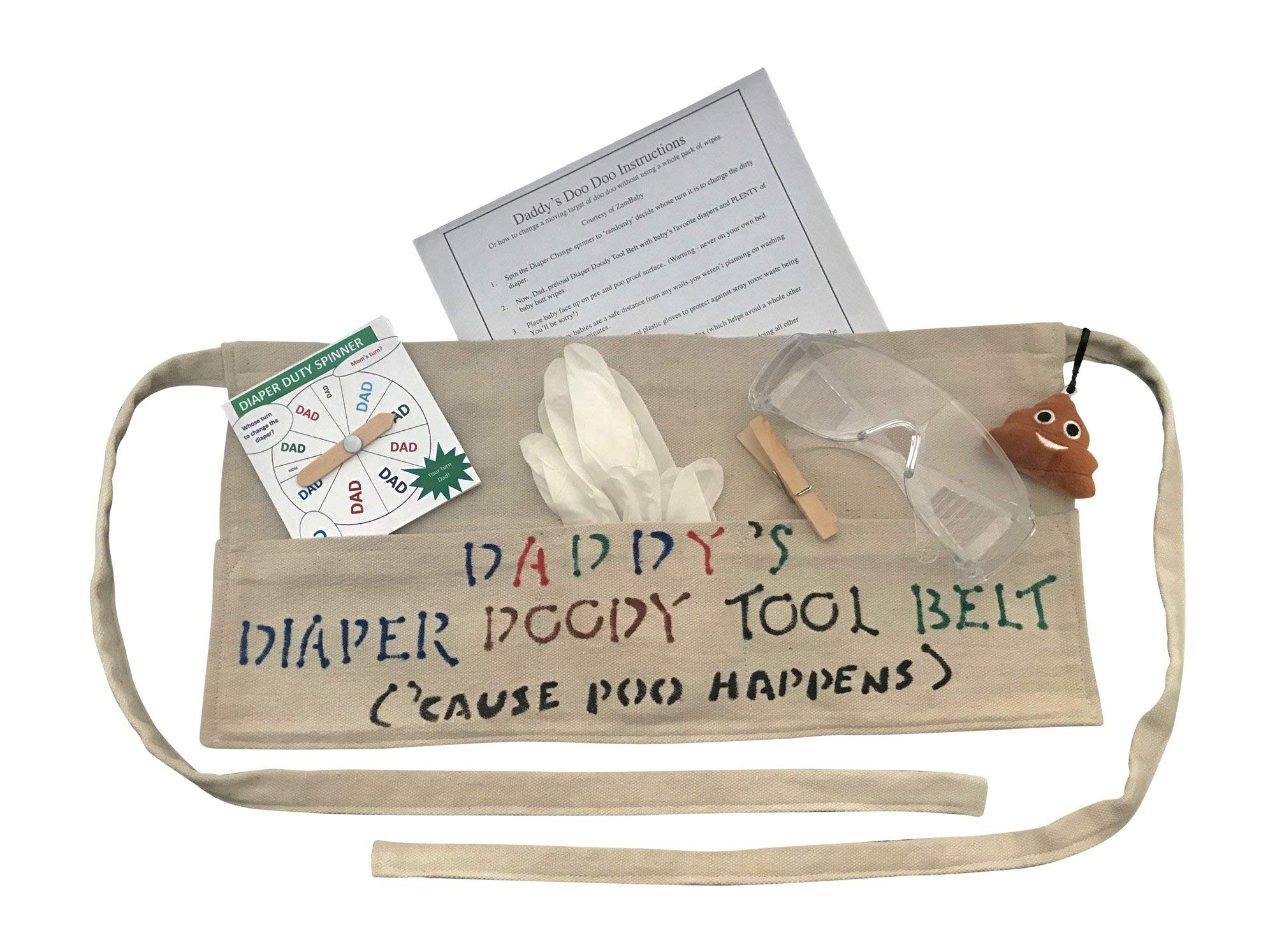 New Dad Funny Diaper Change Tool Belt Gift Set Fun at Baby Shower