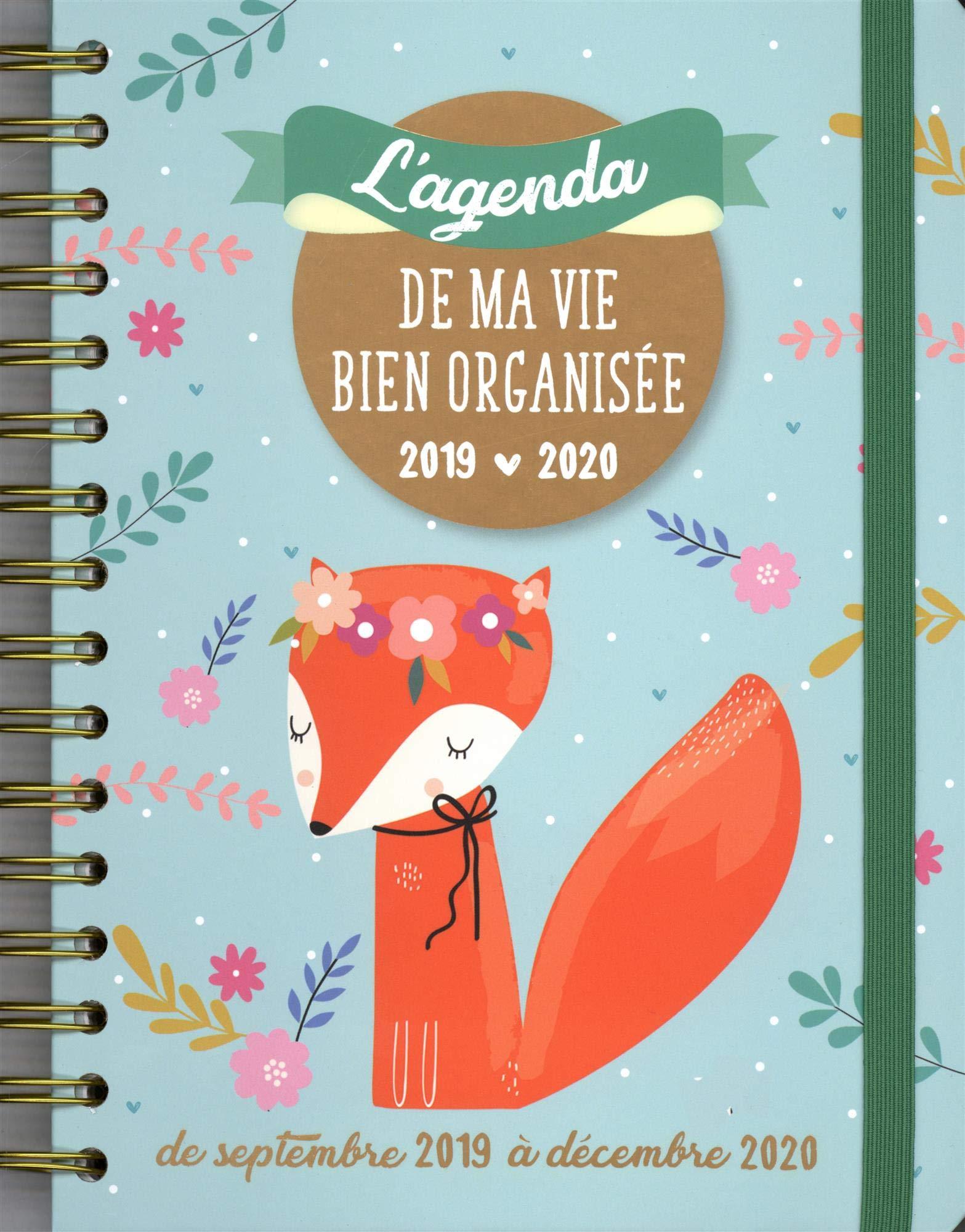 L Agenda de Ma Vie Bien Organisee 2019-2020: Amazon.es ...