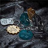 National Engraver Etiquetas de Identificación de Mascotas Perros y Gatos Personalizadas Grabado Lujo Premium