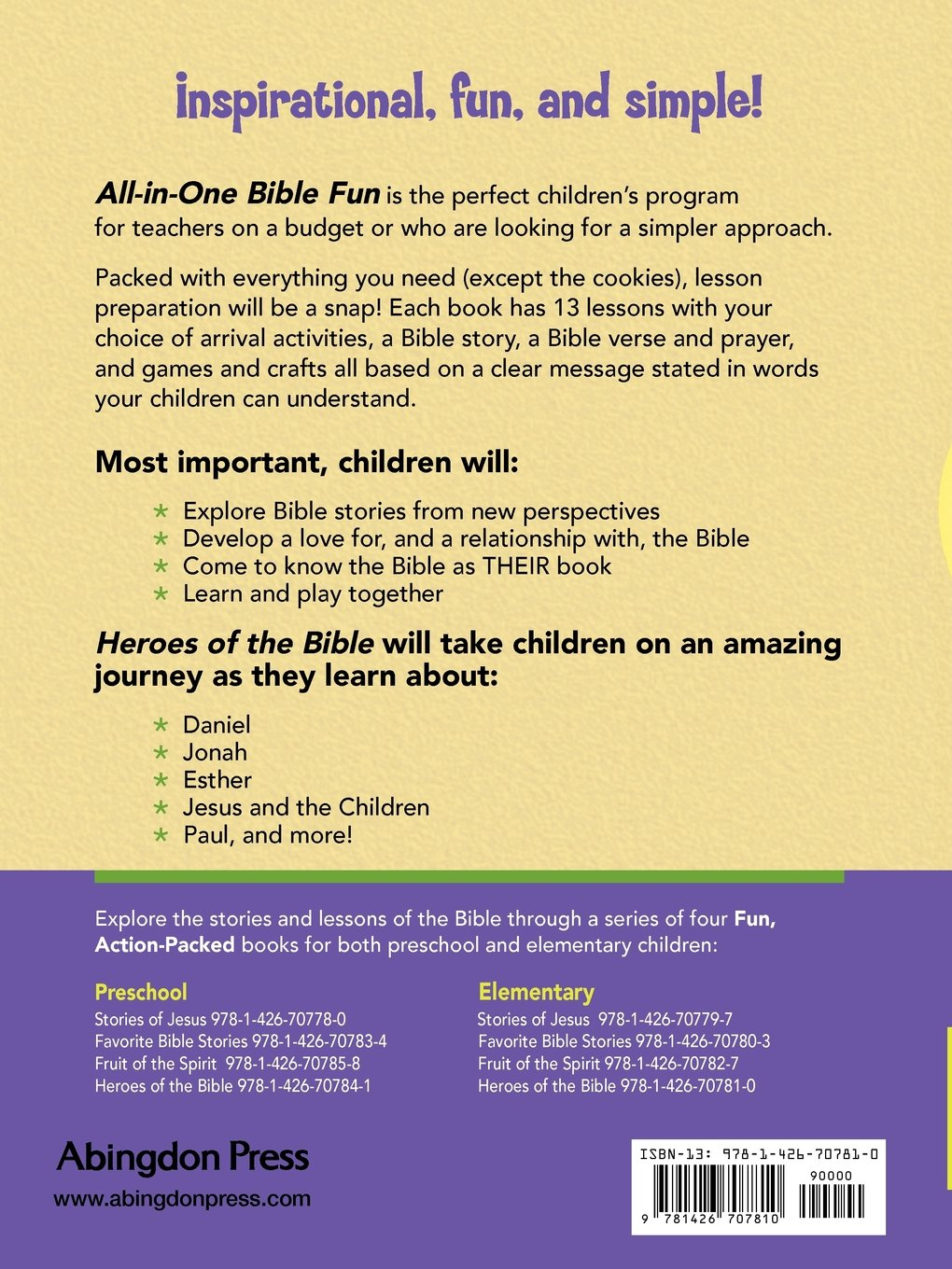 all in one bible fun for elementary children heroes of the bible