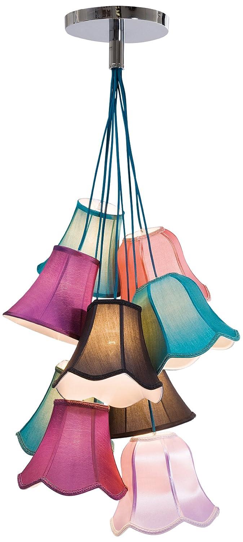 Wonderful Hängeleuchte Saloon Uni, Moderne Pendelleuchte Im Retro Stil, Design  Wohnzimmerlampe Mit Bunten Lampenschirmen, Landhausstil, (H/B/T)  116x60x60cm: ...