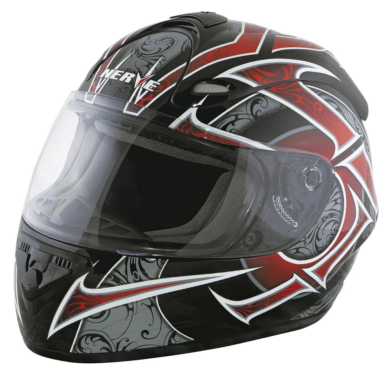 Nerve Casco Integral de Moto, Negro Mate, S KangQi 1518040432_02