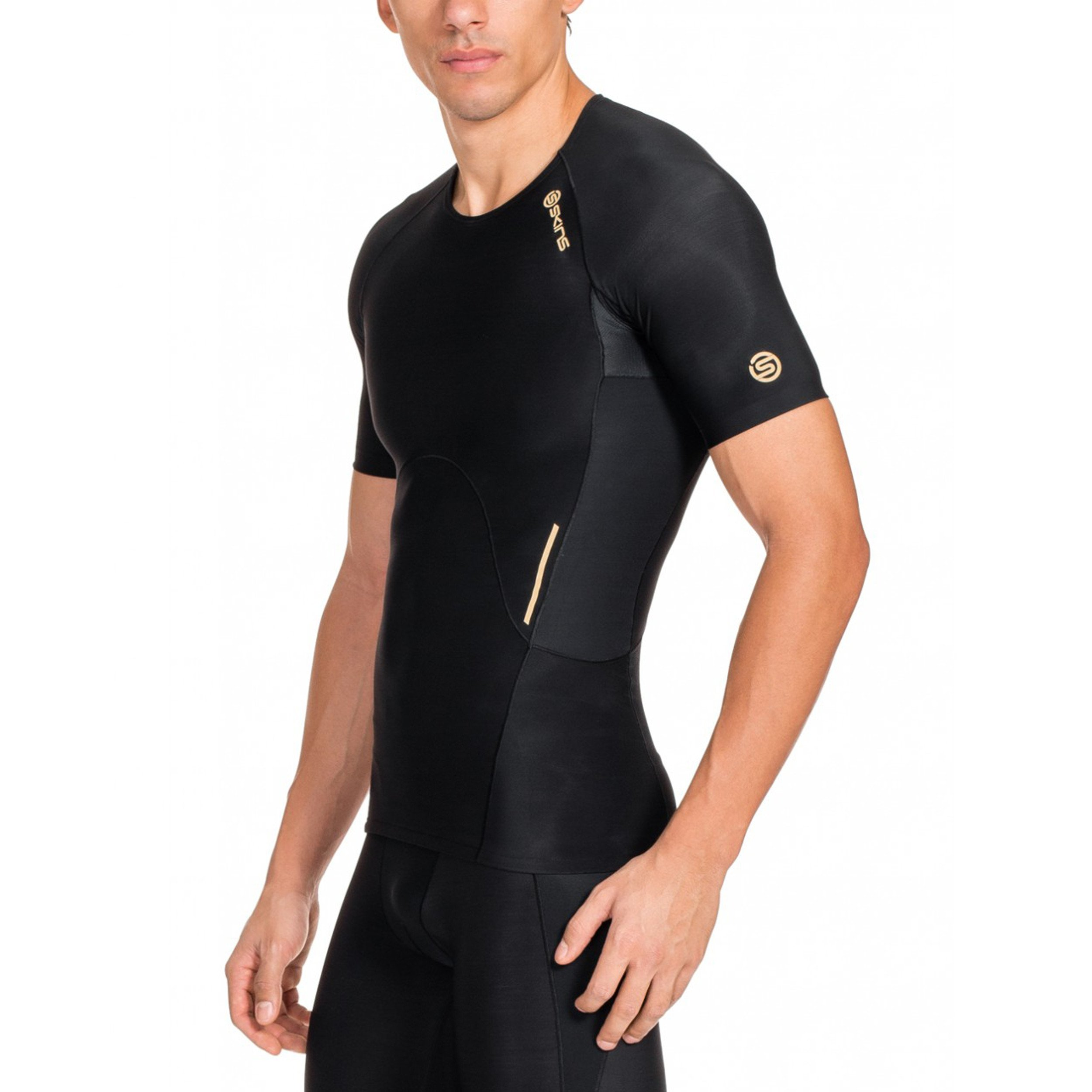 Skins Men's A400 Short Sleeve Compression Top, Black, Small by Skins (Image #4)