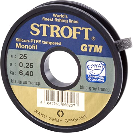monofilament Stroft GTM 100m Monofile Angelschnur Blue grey transparent