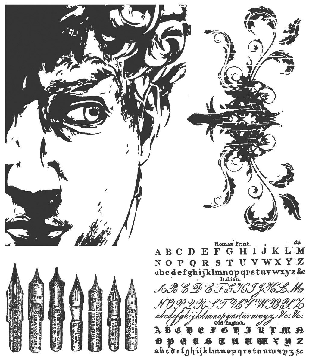 Stampers Anonymous Tim Holtz Cling Rubber Stamp Set, Artful Artifacts
