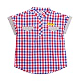 Amazon Price History for:Boys' Casual Western Plaid Short Sleeve Cotton Round Neck Check Shirt