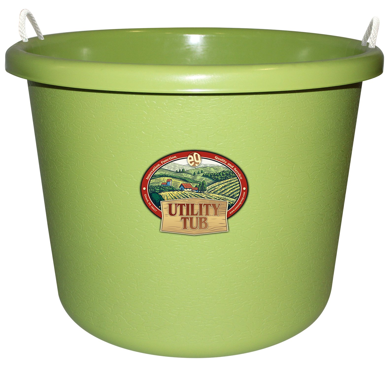 Emsco Group 2653 Utility Tub-17.5 Gallon Bucket-for Maintenance Cleaning Growing, Sage Green