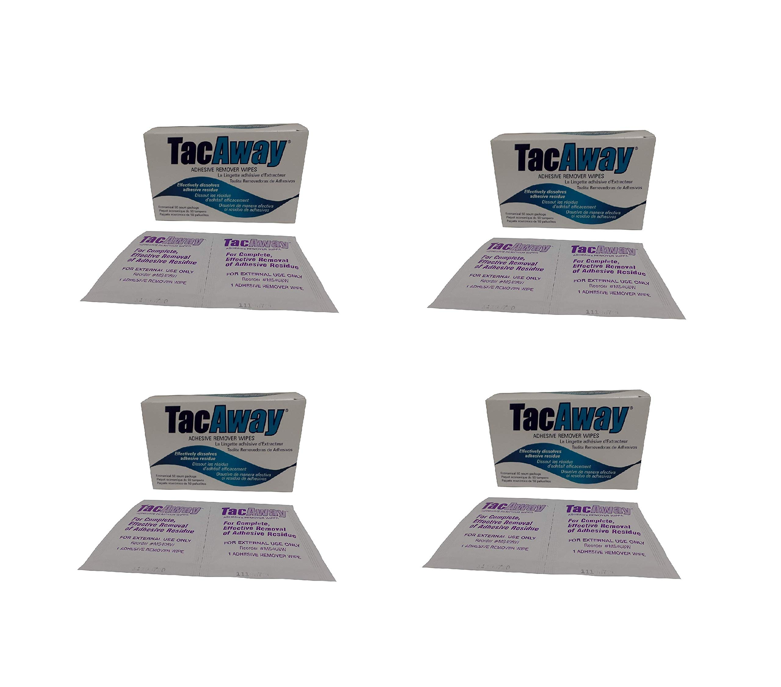 TORBOT TacAway Adhesive Remover Wipes, 50 Count (4 Pack)