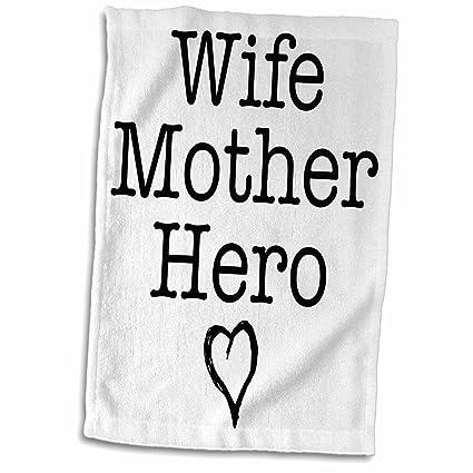 Amazoncom 3drose Evadane Quotes Wife Mother Hero 15x22 Hand
