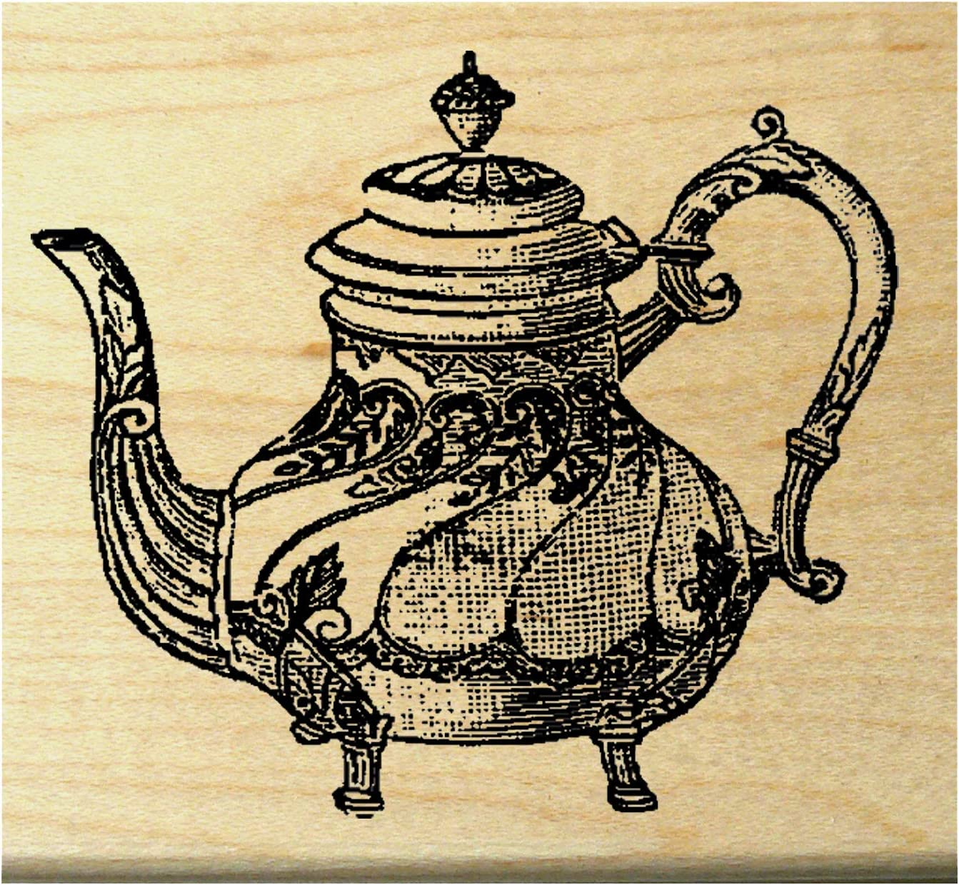 P25 Tea-Pot Rubber Stamp WM
