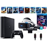 PlayStation VR Launch Bundle 9 Items:VR Launch Bundle,PS4 Slim- Uncharted 4,7VR Game Disc Until Dawn:Rush of Blood, Valkyrie,Battlezone,Arkham VR, DriveClub,Eagle Flight,Combat League