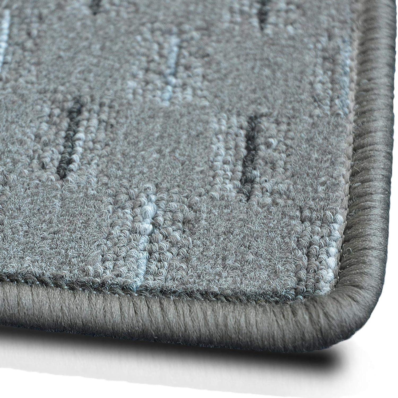 Casa pura Teppich Läufer Glasgow   Meterware Meterware Meterware   Teppichläufer für Wohnzimmer, Flur und Küche   flach gewebt   mit Stufenmatten kombinierbar (Grau - 80x200 cm) B07G5CMM3Z Lufer f2b39b