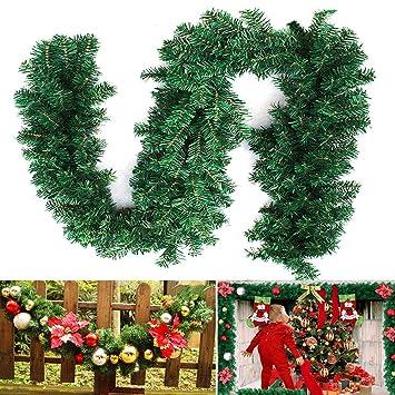 Weihnachtsdeko Für 1 Euro.2 7m Tannengirlande Weihnachtsgirlande Weihnachtsdeko Efeugirlande Künstliche Weihnachten Girlande Dekorieren Tannen Grün Natur 2 7m 1 Stk