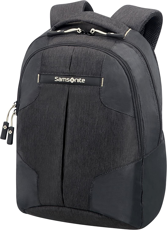 Samsonite Rewind - Mochila pequeña para laptop, 38 cm, 15 l, negro