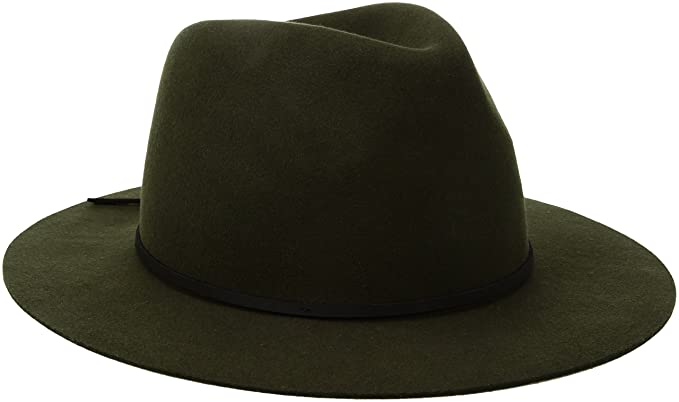 eff83207 Brixton Men's Wesley Fedora, Moss/Black, X-Small: Amazon.in ...