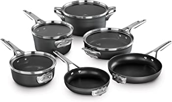 Calphalon Premier Space Saving Hard Anodized Nonstick 10-Piece Cookware Set