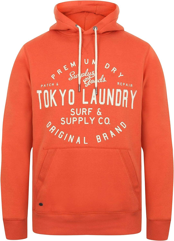 Tokyo Laundry Mens Hoodie Top Pullover Print Fleece Sweatshirt PORTOPALOC