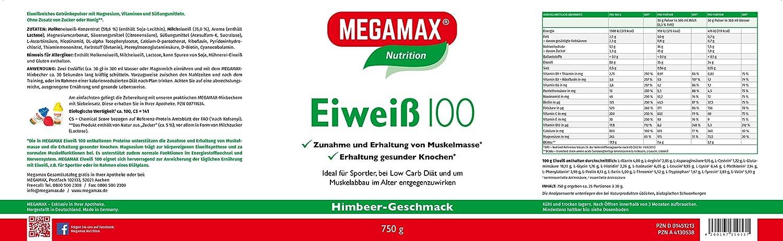 MEGAMAX - Eiweiß - Proteínas de suero de leche y proteínas lácteas - Crecimiento muscular y dieta - Valor biológico aprox.