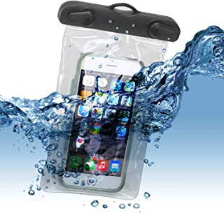 "product image for Universal Waterproof Case With Arm And Neck Strap CellPhone Dry Bag Pouch for Apple iPhone 6S 6,6S Plus,7 SE 5S, Samsung Galaxy S7, S6 Note 5 4, HTC LG Sony Nokia Motorola up to 6.0"" diagonal (Orange)"