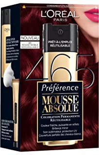 loral paris prfrence mousse absolue coloration rouge reflets rutilisable 465 rouge noble remarquable - L Oreal Coloration Rouge