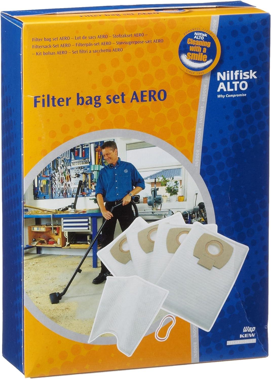 Nilfisk 302002404 - Pack con 4 bolsas para aspirador y un filtro ...