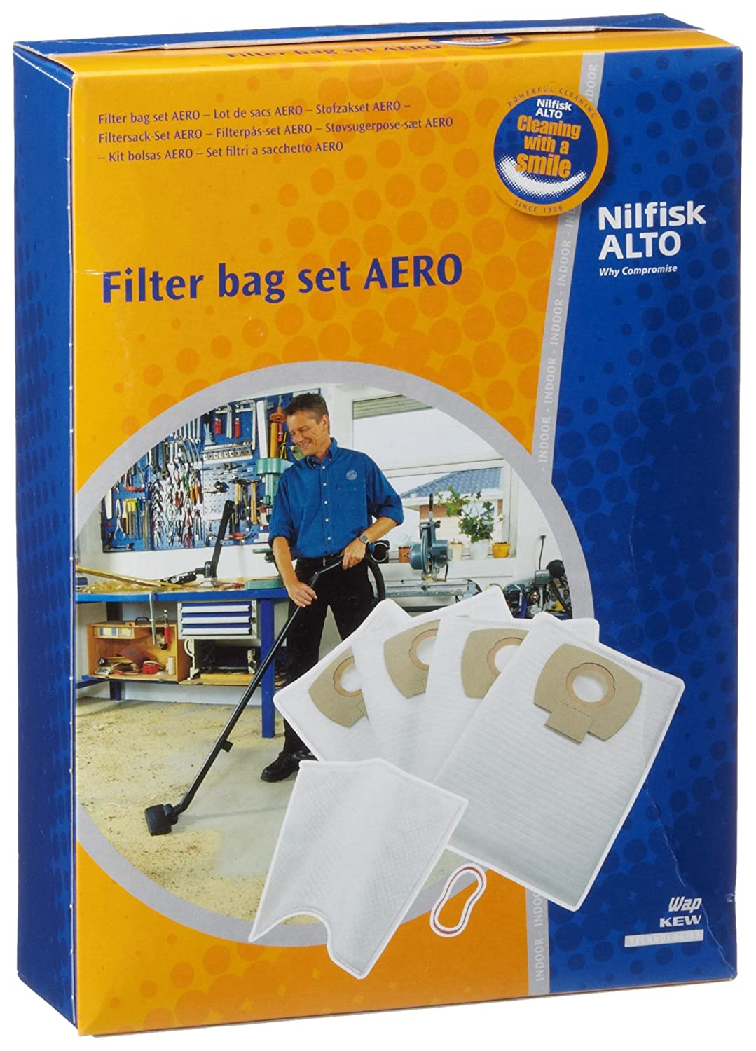 Nilfisk-Alto 4005337104816 Filter Bag Kit, Blue