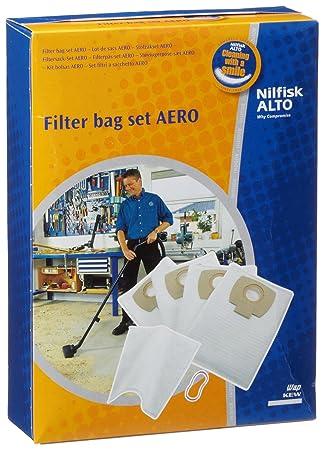 buying now retail prices high quality Nilfisk 302002404 Sac Aspirateur 4 Sacs en Polystyrène + 1 Filtre à Eau