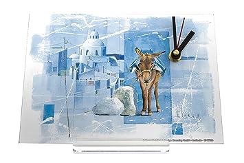 Bureau horloge voyage autour du monde f. heigl grèce âne rétro