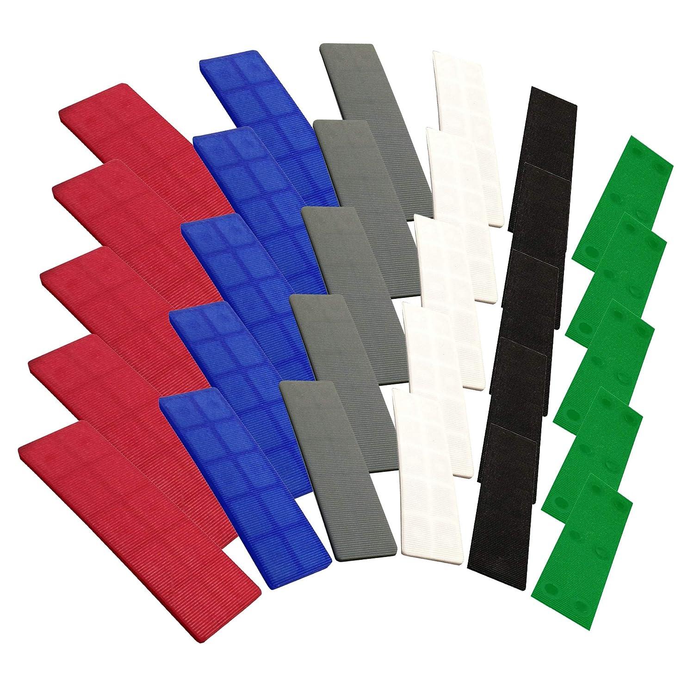 Espaciadores planos para ventanas 100 mm x 28 mm, 1 mm a 6 mm, 100 unidades JCP
