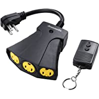 DEWENWILS Remote Outlet Power Switch, Outdoor Wireless Remote Control Outlet Kit, Weatherproof 15 AMP Heavy Duty…