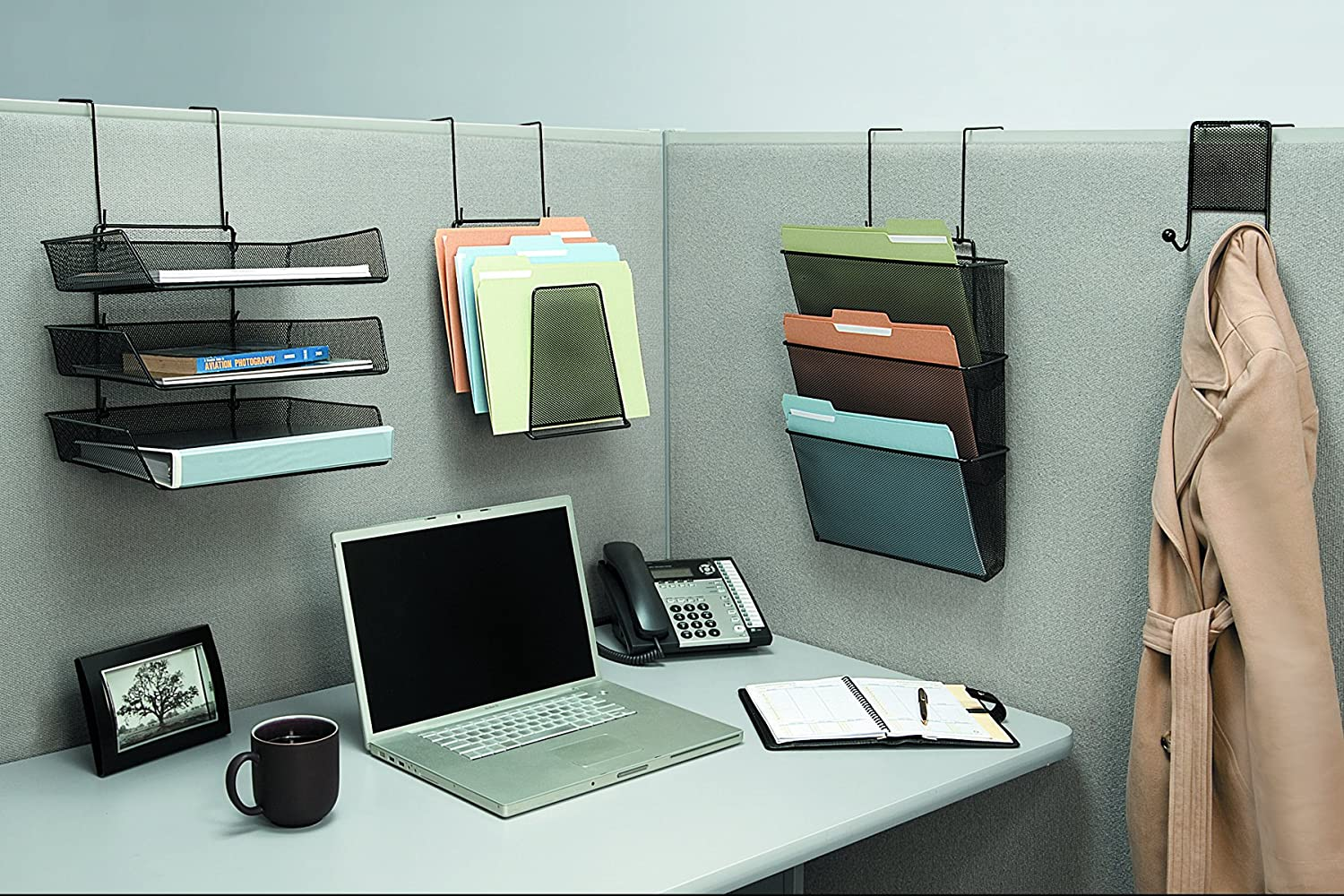 office cubicle hanging shelves. Amazon.com : Fellowes Mesh Partition Additions Double Coat Hook, Black (75903) Cubicle Office Products Hanging Shelves U