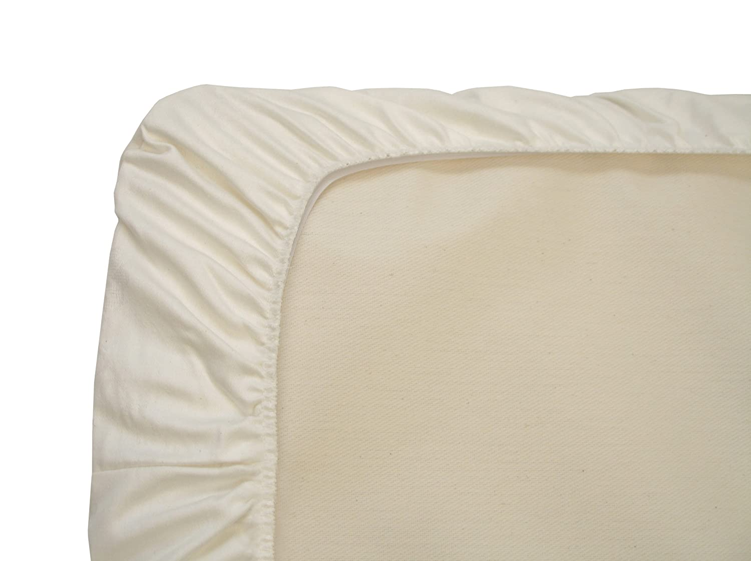 Naturepedic Organic Cotton Sateen Cradle Fitted Sheet, Ivory SD50i