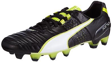 e4e171c9262c Puma King Ii Fg, Men's Footbal Shoes, Black (Black-White-Sulphur