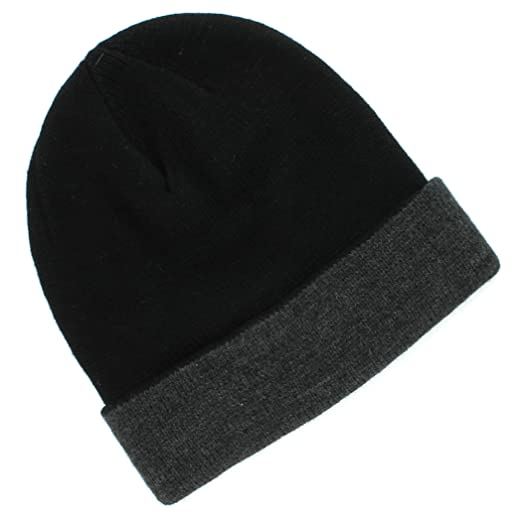 8b20ecf78cf Image Unavailable. Image not available for. Color  Van Heusen Black Gray  Winter Beanie Watch Hat for Men - One Size