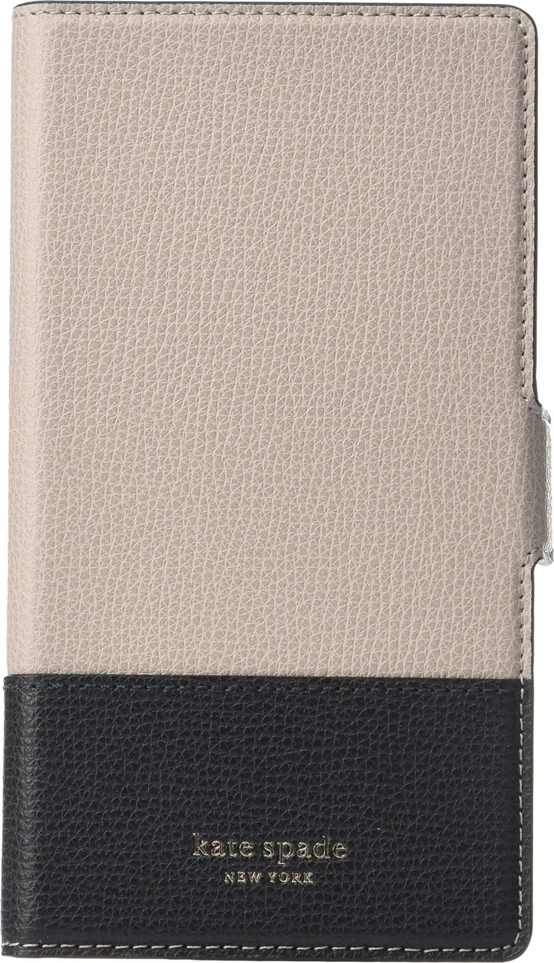 Kate Spade New York Women's Sylvia Magnetic Folio Phone Case for iPhone XR Warm Taupe/Black One Size