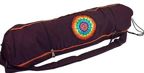 GURU-SHOP Bolsa de Estera de Yoga Rainbow Om - Vino, Unisex ...